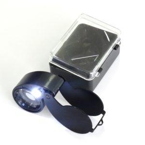 Lupa de Bolso com LED