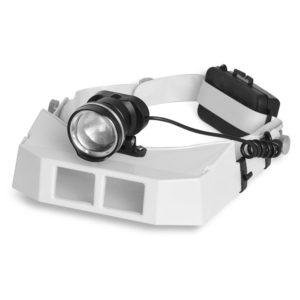 Lupa de Cabeça com 3 lentes Power LED
