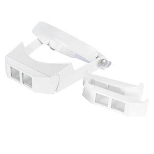 Lupa de Cabeça com Visor Articulado e 3 lentes