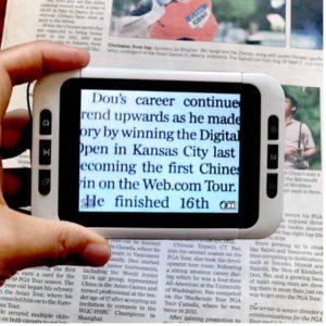 lupa uemax 3 ampliando o texto do jornal